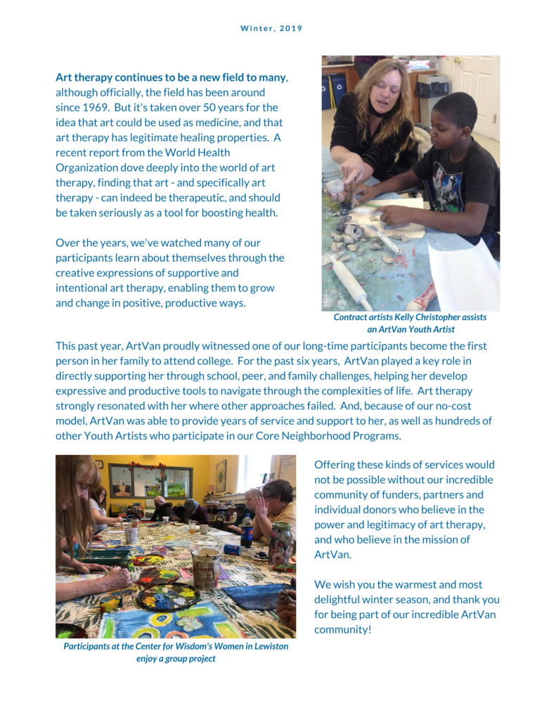 Winter newsletter, page 3 (full text available in PDF file)